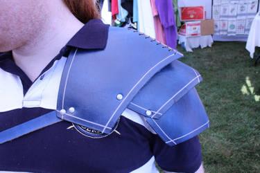Blue Leather 3-Segment Pauldron by SilverHauntArmoury