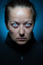 White eyes portrait (2) by Avahlon-Stock