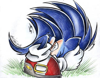 Sonic is afraid by ManueC