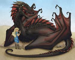 Daenerys and Drogon by ManueC