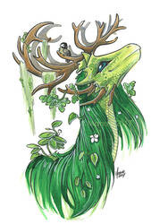 Natyre goddess of earth and nature by ManueC