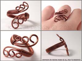 Copper Swirls by KsenyaDesign