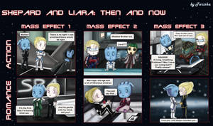 Shepard and Liara: Then and Now by Tarisha