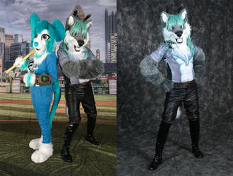 Peony and Daryil photoshoot from Anthrocon 2017 by tapewolf