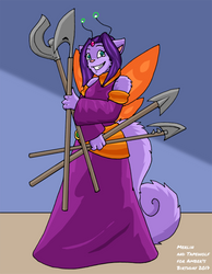 Mab in her natural stabby element (Present) by tapewolf