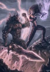 Demon Knight vs Hell Queen by JPKegle