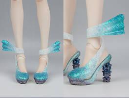 3D printed Heels Jel Nail art by RMLBJD