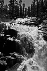 Yosemite Waterfall Black White by rwlux83