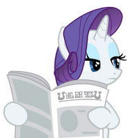 Rarity reading a newspaper by JoeMasterPencil