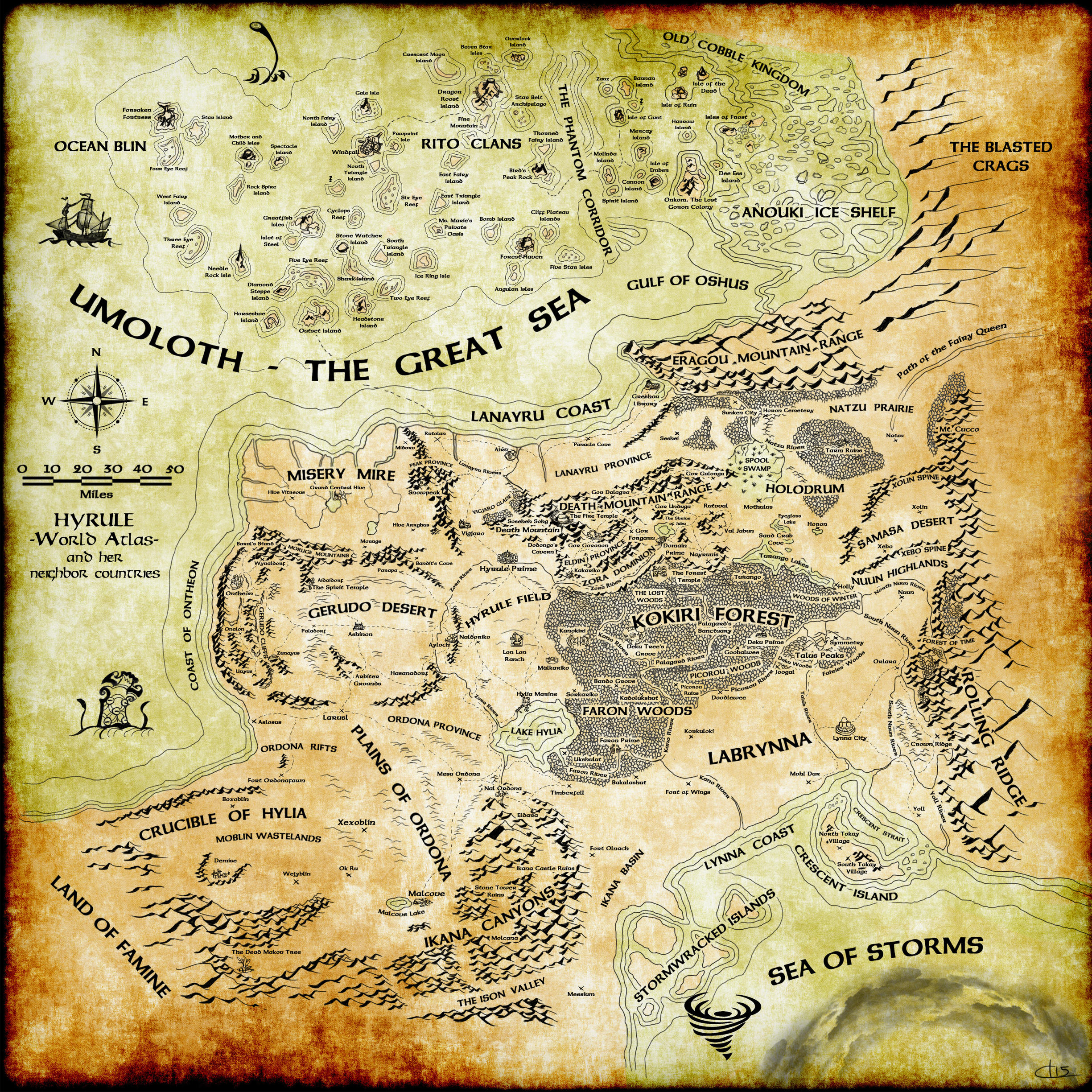 Hyrule World Atlas by UndyingNephalim