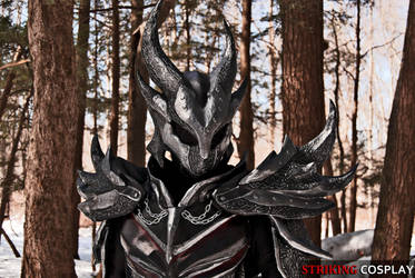 Dovahkiin in Daedric Armor from TES: Skyrim 2 by StrikingCosplay