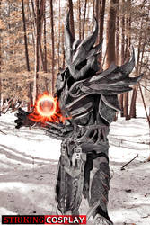 Dovahkiin in Daedric Armor from TES: Skyrim 3 by StrikingCosplay