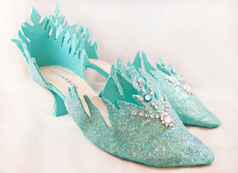 Elsa from Disney's Frozen - Snow Queen Shoes by StrikingCosplay