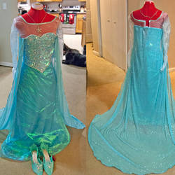 Finished Elsa Dress by StrikingCosplay