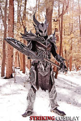 Dovahkiin in Daedric Armor from TES: Skyrim 4 by StrikingCosplay