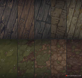 Hand painted textures that I did for Bitgem by AntonioNeves