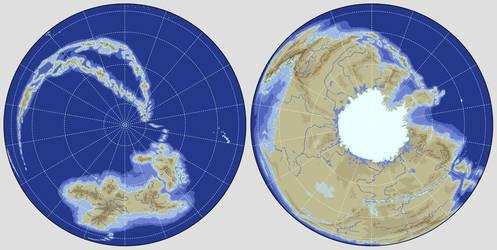 Polar Worldmap by Ponentguy