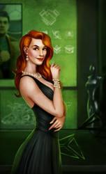 Commision. Fanart to Elite Dangerous Victoria Wolf by KatreShka