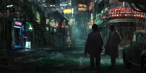 Night street by RhysGriffiths