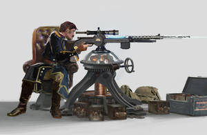 Mounted Tesla Sniper by RhysGriffiths