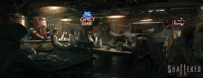 Shattered RPG - 'The Grey Shade' Tavern by RhysGriffiths