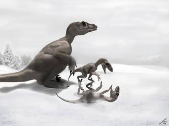 Theropod winter by pakozoic