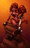 Red Monika by Randy Green by ConfuciusRetaliation