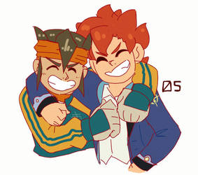 Endou and Arata by personqwer