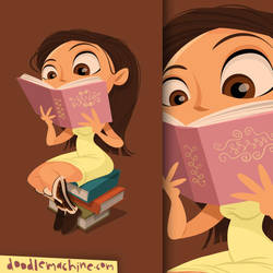 This Chick Loves Lit by andredoodles