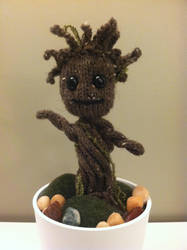Knit Baby Groot by Whitness