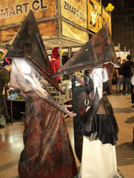 Pyramid heads by socramaiden