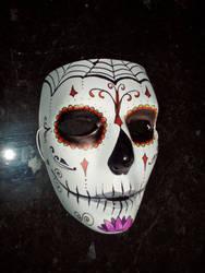 Dia de los muertos mask by originalclosetnerd
