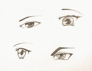 Anime eyes by originalclosetnerd