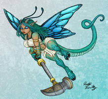 Dalina the half faerie dragon by PookaWitch