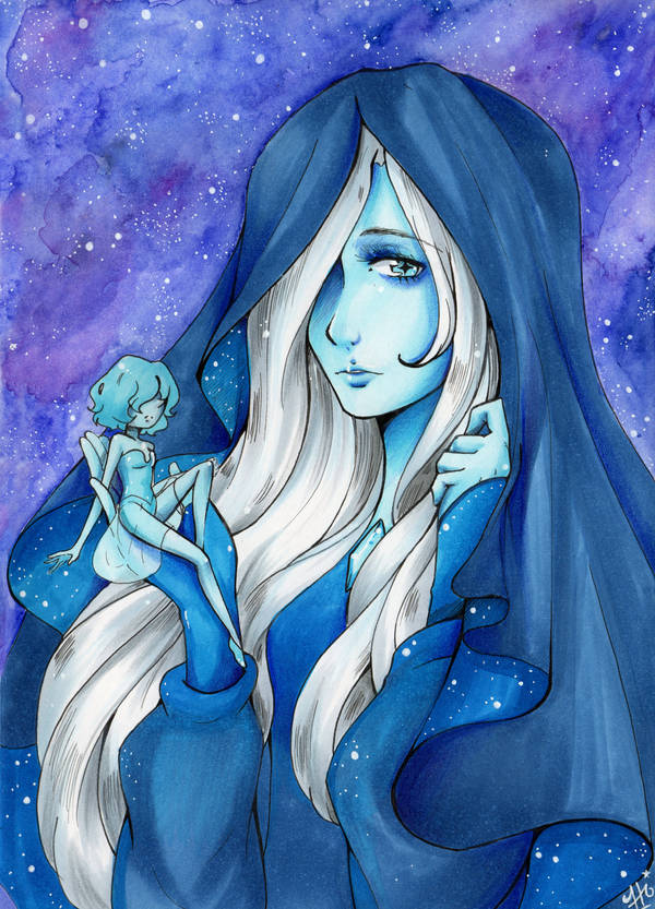 Hi Guys! Today i brought to you my Blue Diamond Watercolor + Marker + Polychrom i really love her, and Blue pearl is my favorite pearl (now we know she is an artist and that make me love her much m...