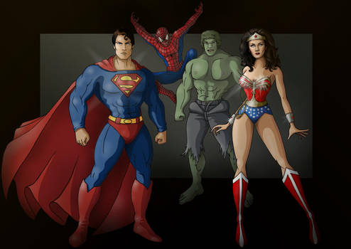 classic heroes by nightwing1975
