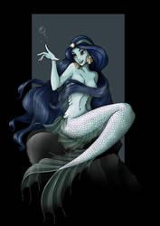 jasmine mermaid - commission by nightwing1975
