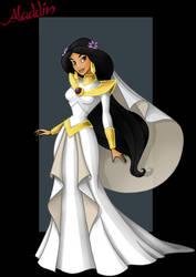 princess jasmine  -  wedding dress by nightwing1975