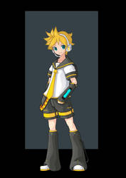 kagamine len by nightwing1975