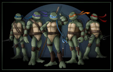 Five Turtles Group shot by nightwing1975