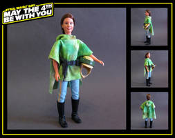princess leia (endor combat poncho) custom doll by nightwing1975