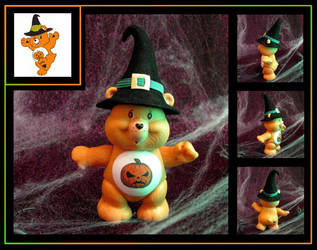 Halloween Care Bear (custom figure) Yours to own!! by nightwing1975