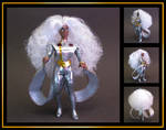 Storm in silver outfit (vintage POP style) custom by nightwing1975