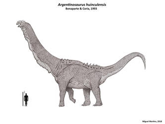 Argentinosaurus huinculensis reconstruction by IAMMiguel