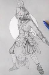 Diablo III Monk by tachypnoe