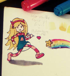 Star on Adventure Time by Cleopay