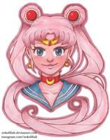 Pink Sailor Moon by NekoLiliah