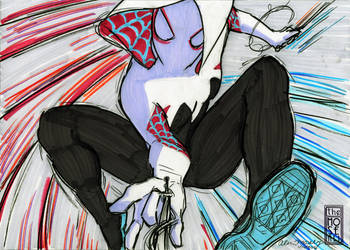 The Swingin Spidey Gwen by TheMoseali