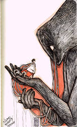 Inktober #5: Deep Slumber by TheMoseali