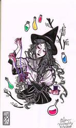 Inktober #6: Witch Play by TheMoseali